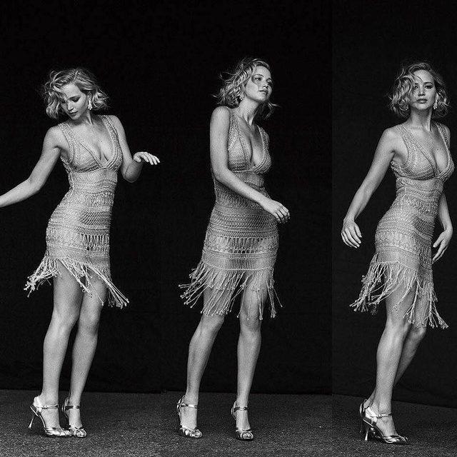 Saturday night fever. Photograph of Jennifer Lawrence by @therealpeterlindbergh. #VFMood