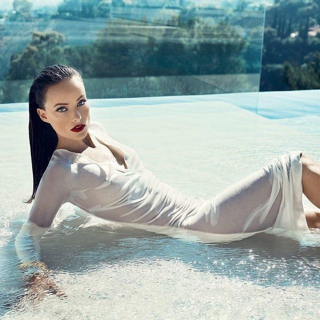 Care for a casual Sunday soak? Photograph of @OliviaWilde by Norman Jean Roy for V.F. December 2010. #VFMood