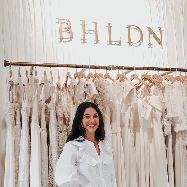 #BHLDNBride @catherineinthecity is glowing as she finds her dream gown.✨ (Click the link in our profile to find a BHLDN near you + book an appointment today) 📷: @catherineinthecity