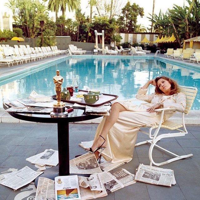 A post-holiday weekend #VFMood. Photograph of  Faye Dunaway by Terry O'Neill, March 1977.
