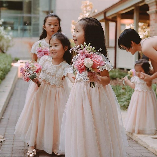 Why have one flower girl when you can have four!? We love these cuties in our Kala Dress! 🌸(tap to shop | 📷: @angusporterphotoandvideo via @rainbowleen)