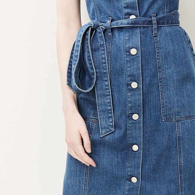 Give your jeans a day off. Shop our must-have denim dress: link in bio. #GapDenim
