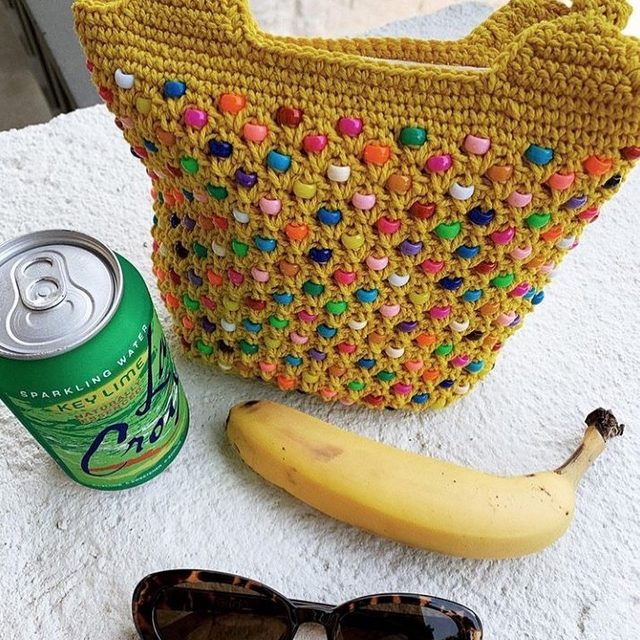 The Candyland Clutch, good for candy or bananas.