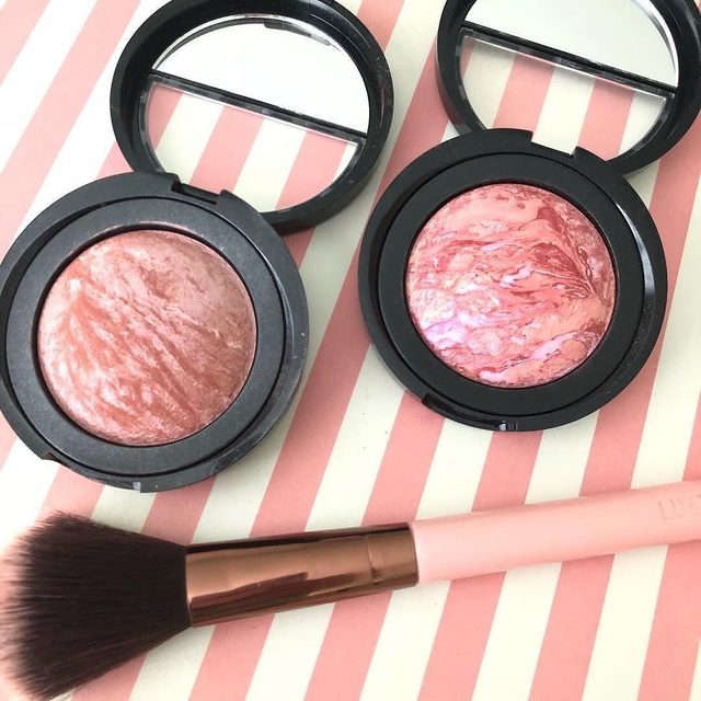 Which is your favorite?! Pink Grapefruit or Tropic Hues 👀💫 via @mp_beauty0169  #laurageller #beauty #blush