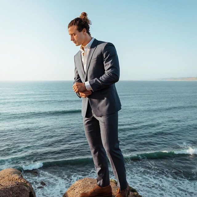 @marshallbensky looking sharp in our Italian Wool Suit.  Want to be in our feed? Show us your style—tag #BRMens and @bananarepublicmens in your caption.