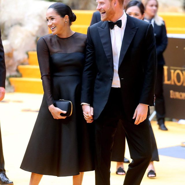 It's date night for Prince Harry and Meghan Markle. The Duke and Duchess of Sussex stepped out this evening to attend the star-studded premiere of The Lion King in London.