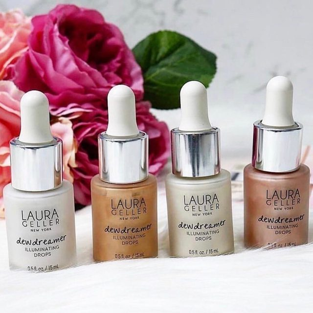 Customize your GLOW with our Dewdreamer Illuminating Drops 💫 Perfect for summer.  #laurageller #highlight #summerglow