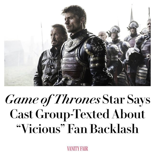 If you were among the (many) #GameOfThrones fans who criticized the show's final season on Twitter, Nikolaj Coster-Waldau, and the rest of the cast, may have taken notice. Full story at the link in bio.