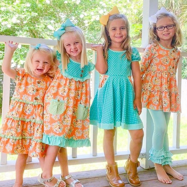S&GKids home shows have started and the fun has begun!  If you'd like to host a party and join the Shrimp & Grits Kids family, contact us today through the link in our profile.  If you'd like to see the fall line  in person- email us today, we can connect you to a local rep. Our Fall season goes live this Thursday! 💕