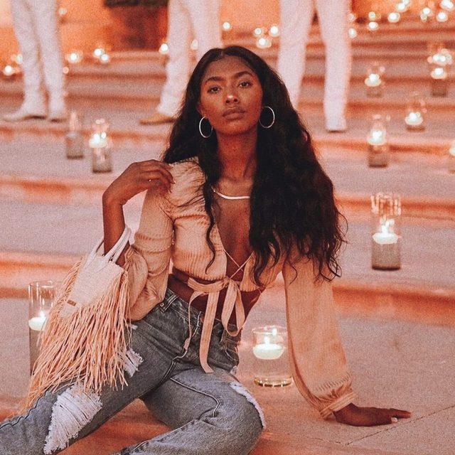 lighting up your world like nobody else ✨ @tatianaelizabethh in the Davis Long Sleeve - link in bio to get her look #REVOLVEsummer #itsnbd