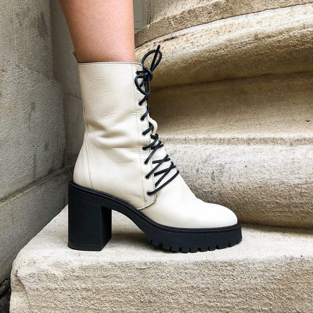 Statement-worthy. @jlbabe in the Dylan Lace-Up Boot
