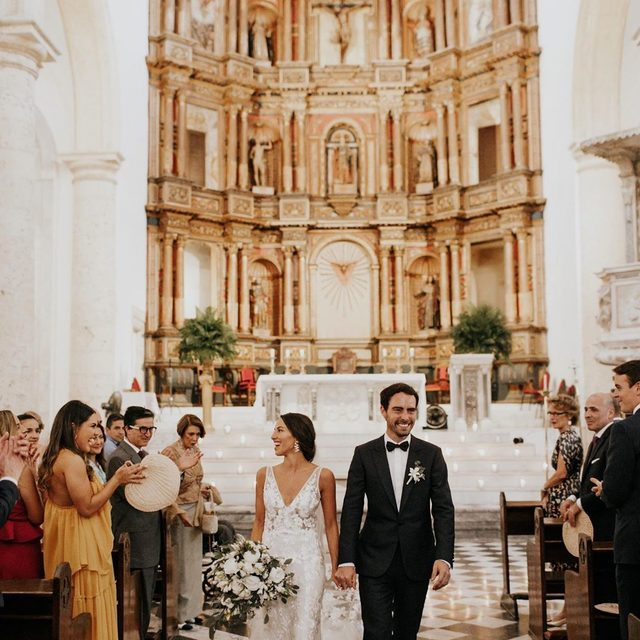 """Our motto is to always do the unexpected and create experiences that make people feel alive,"" says the bride. And she couldn't think of a better place to bring her new French in-laws and family together than Colombia. 💃🏻 Head to the #linkinbio for a wedding that blended tradition with modern flair and see even more from this party in our Aug/Sept issue on sale now! 🙌🏻 #WeddingOfTheDay 