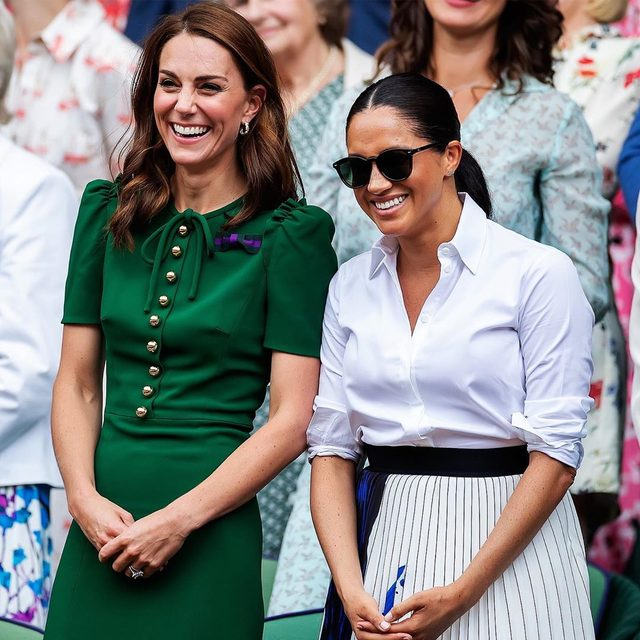 """Royal sources say Meghan Markle and Kate Middleton have formed a """"genuine and sweet"""" bond. At the link in bio, @vfvanities details how media scrutiny and the birth of baby Archie """"strengthened"""" the duchesses' relationship."""