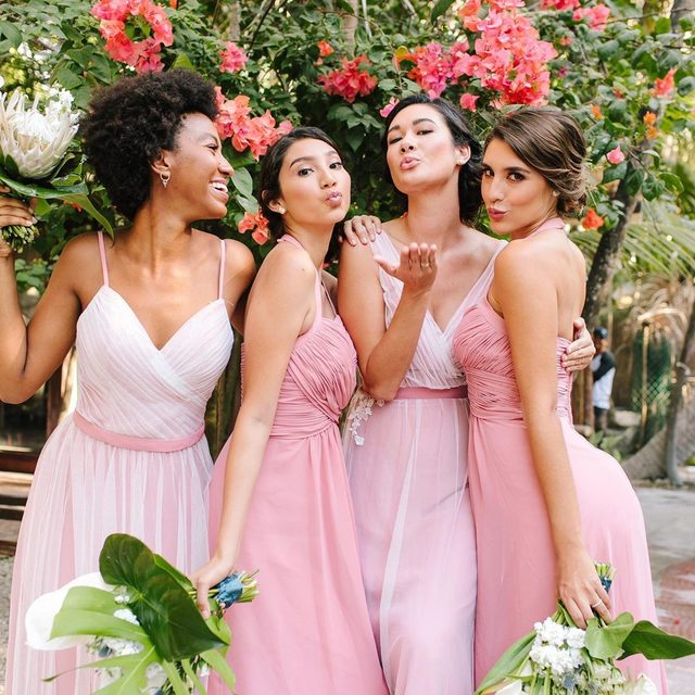 Number ones since day one 🎀 | Photo: @JacquiCole | Planning: @tropical_os | Floral Design: @vanessajaimesfloraldesign | Bridesmaid Dresses: @kleinfeldbridalparty | H&MU @stylingtrio