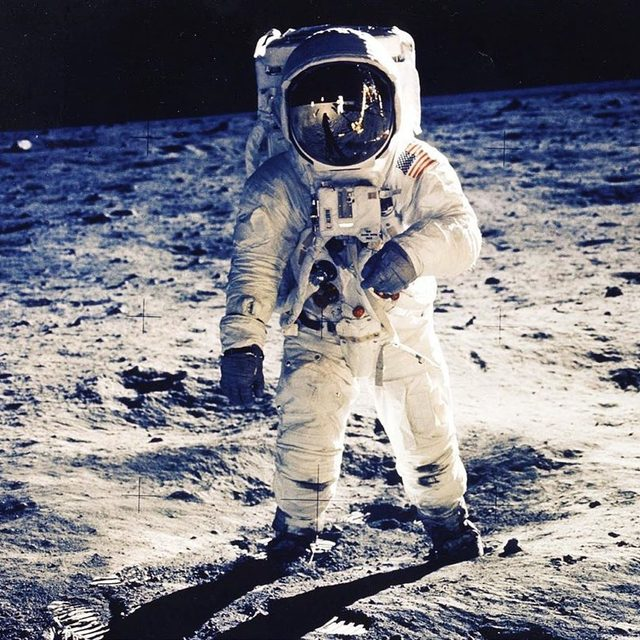 One giant leap for mankind. 🚀 On this day in 1969, Apollo 11 astronauts Neil Armstrong and Buzz Aldrin became the first men to set foot on the moon.