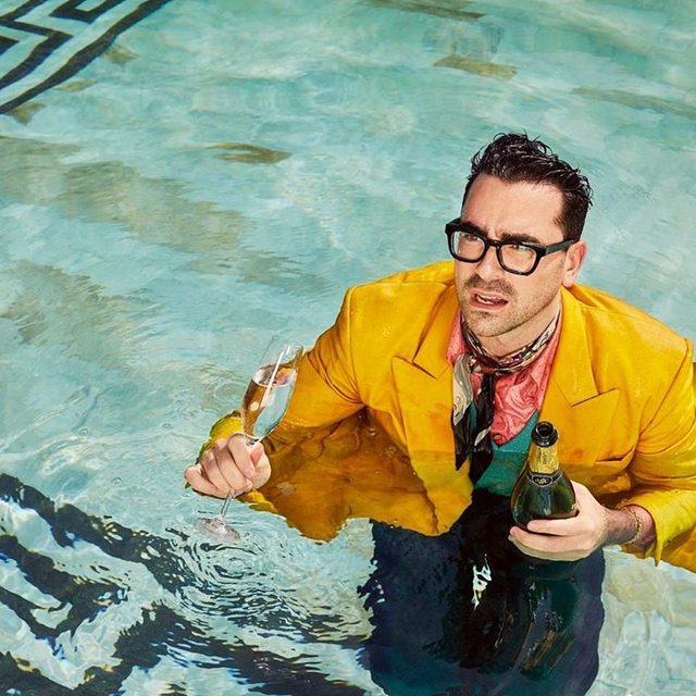 Make like Dan Levy and conquer this heatwave in style. Photograph by Andrew Eccles. #VFMood
