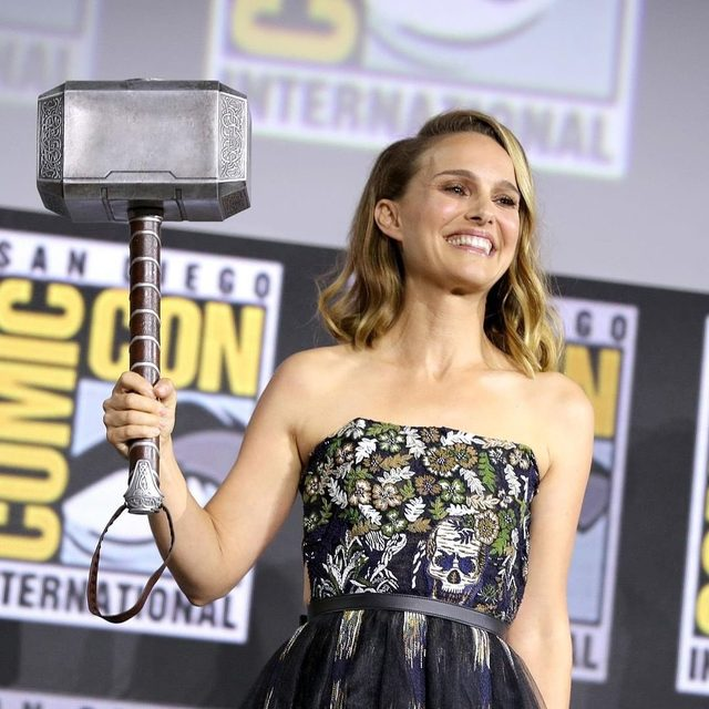 All hail Thor. #NataliePortman will bring down the hammer as the first-ever female #Thor in Marvel's upcoming sequel. Read more about the surprise Comic-Con announcement at the link in bio.