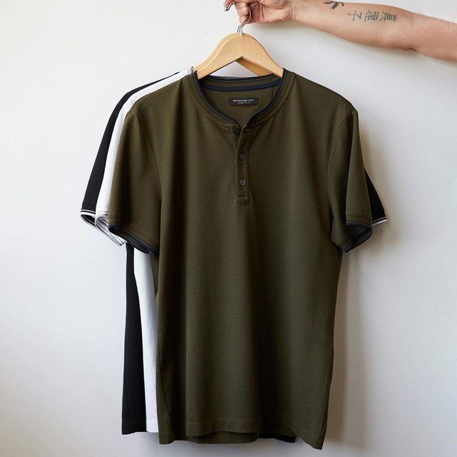 Meet the Luxury-Touch Henley T-Shirt.