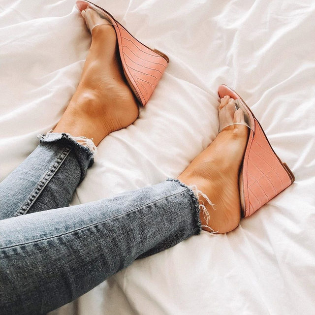 the perfect pop of pink 💕 - link in bio to shop th aaron wedge