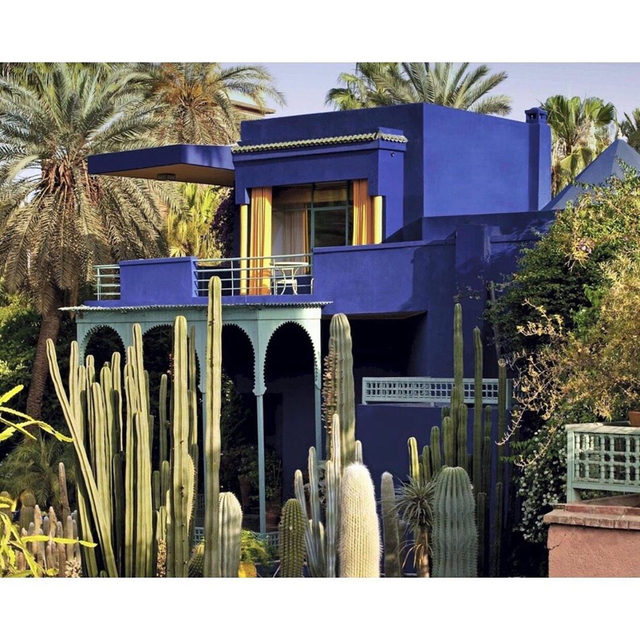 Vibrant color inspirations behind our newest hues. Featuring Bleu Majorelle, the blue of one of our favorite Marrakech destinations.