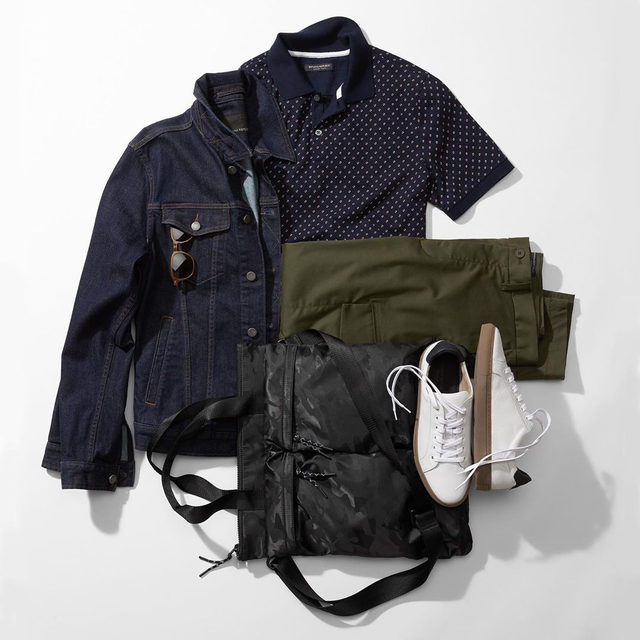 Today's fit. (Tip: Swapping your everyday canvas sneaker for a leather one will take your style game up a notch.)