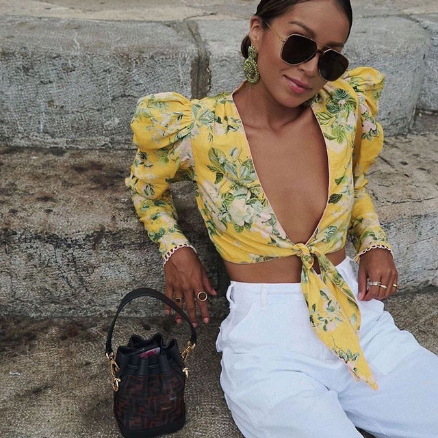 This top is sunny-summer-Sunday approved 😎 @sincerelyjules