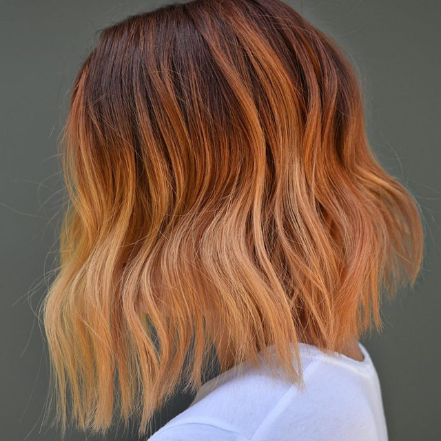 New hair trend alert! Ginger peach is the prettiest ombré hair-color trend for fall 🍑 Link in bio for how to get this gorgeous shade before the seasons switch. #hair #regram @shmeggsandbaconn