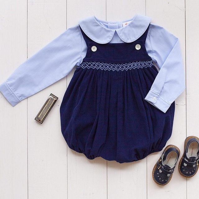 Y'all... this navy corduroy bubble 😍 Styled for a little boy OR girl ➡️