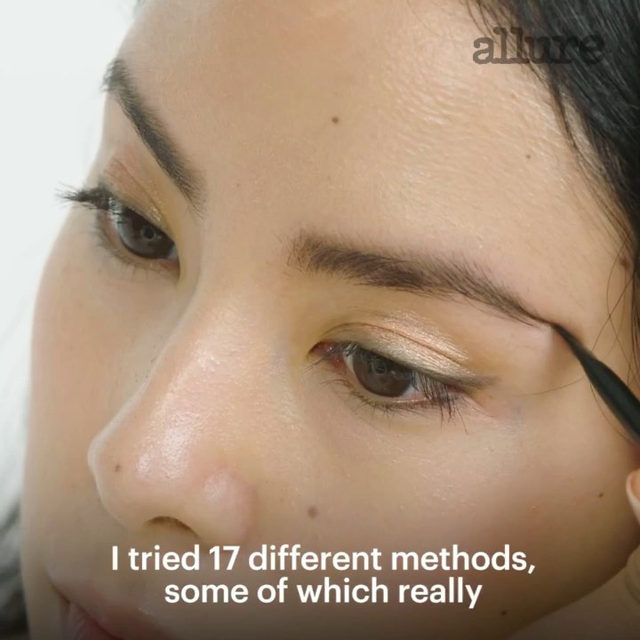Allure's executive beauty editor @Jess_chia tried out almost every method of styling, filling, and plumping eyebrows and the results were... interesting. 👀 Link in bio for the full video!