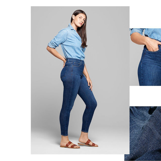"""Nicknamed the """"feel great"""" jean for a reason. Super fitted. Super comfortable. Super stretchy. Tap to get into the Favorite Jegging. #GapDenim"""