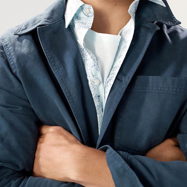 Meet our Utility Shirt Jacket. Inspired by classic Trucker Jackets. Made with a shorter, modern length. Garment dyed to give it that special lived-in look that gets even better the more you wear it.