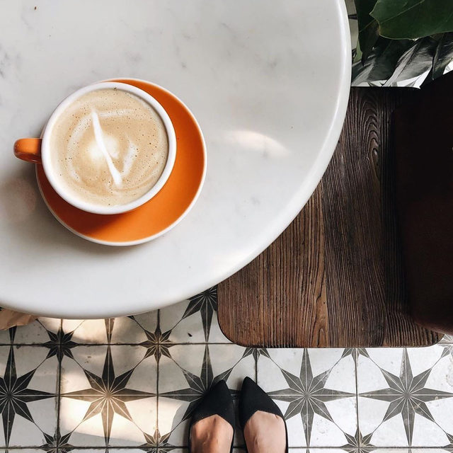 Monday must-haves: coffee and cute shoes. ✔️☕ @jenndguez #rothysinthewild