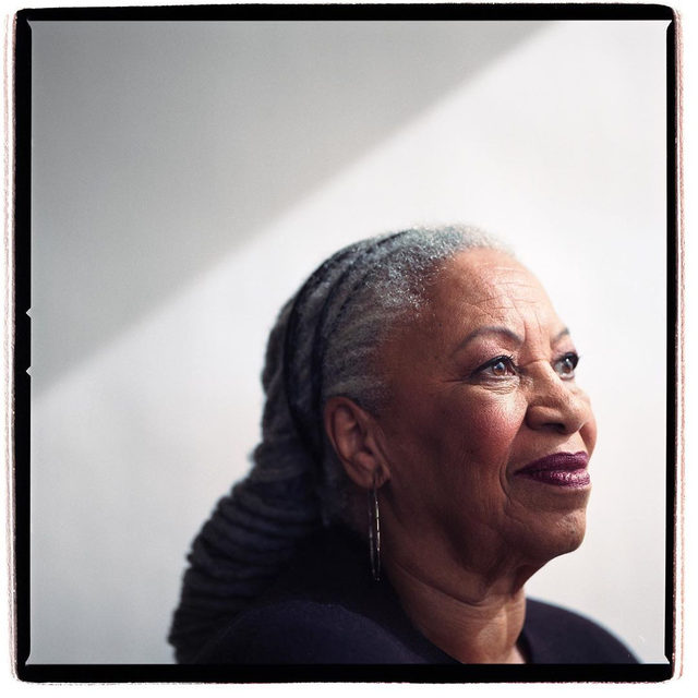 """The writer Toni Morrison has died, at the age of eighty-eight. In 2003, she discussed her legacy with Hilton Als: """"Being a black woman writer is not a shallow place but a rich place to write from. It doesn't limit my imagination; it expands it. It's richer than being a white male writer because I know more and I've experienced more."""" Tap the link in our bio to read more. Photograph by @damonwinter / NYT / Redux."""