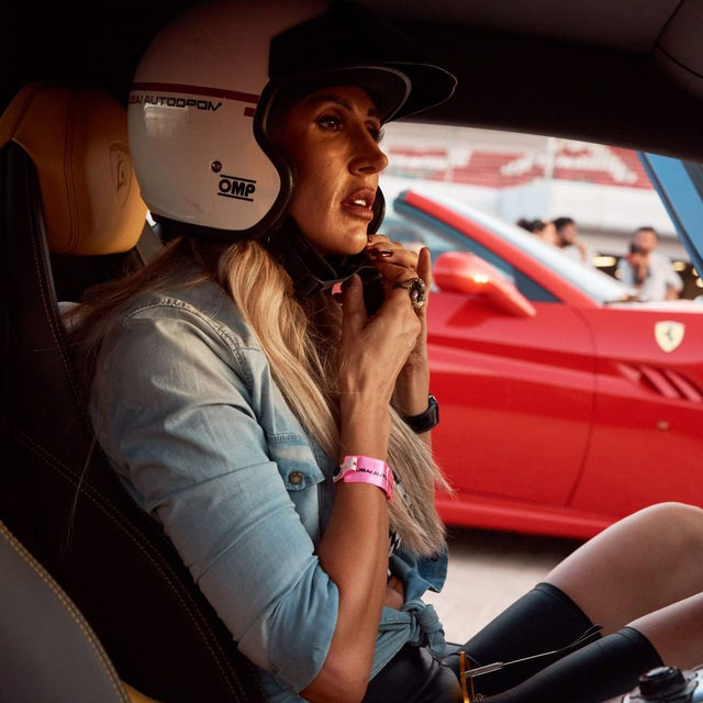 """Driving with Dubai's all-female luxury car club, the @arabiangazelles, sheds light on a new kind of ladies' club where power is in the eye—and gearshift—of the beholder. @elianeamer (above), a former journalist, mother of three, and one of the original members of the Arabian Gazelles, had parents who owned a gas station and car repair shop in Lebanon. """"I used to steal my brothers' cars a lot and go driving everywhere,"""" says Amer. Now she likes to drive her Lamborghini Aventador barefoot. """"When I jump into the driver's seat and hear the sound of the engine, something changes,"""" Amer tells me. """"It makes me want to be as aggressive as the car. After joining the Gazelles, I realized there are many more woman who feel the same way I do."""" Tap the link in our bio to read more. Photographed by @devindoyle"""