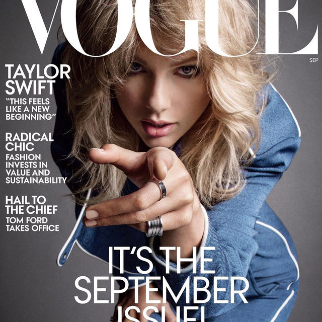 @taylorswift is our September issue cover star! Tap the link in our bio to read the full profile. Photographed by @inezandvinoodh, styled by @tonnegood, written by @abbyaguirre, Vogue, September 2019.