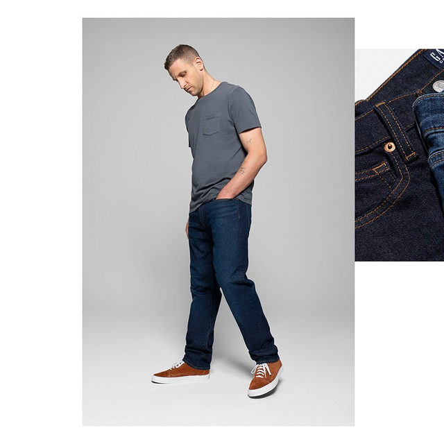 Our Straight fit in authentic Japanese Selvedge denim, spun on shuttle looms for amazing character and strength. Feels perfect from day one. Feels more like you the more you wear it. Tap to shop. #GapDenim