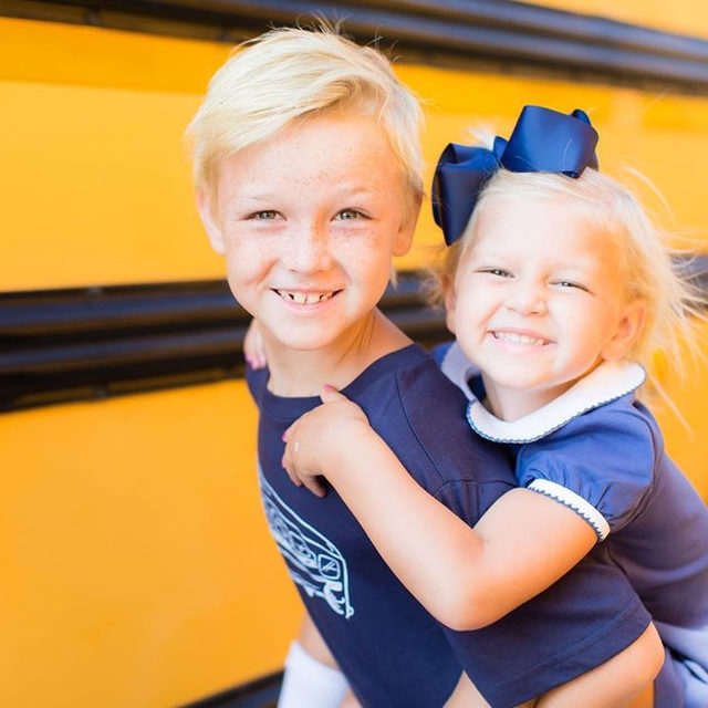 Summer is winding down and some of schools are back in session here in Charleston. So long sweet summer. Wishing everyone a happy first day back! Psst..don't forget to snag some b2s outfits for this year, or next, 25% off through the link in our profile. 🍎🚌 @ambertysl