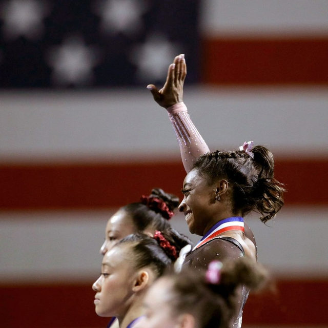 Simone Biles is arguably the most dominant athlete in the world right now—Serena Williams does not win every tournament; Michael Phelps sometimes lost a race. Biles has not lost an all-around title in six years. Tap the link in our bio to read more about how her empowerment and self-confidence offer a new example of an old ideal. Photograph by Charlie Riedel / AP / Shutterstock.