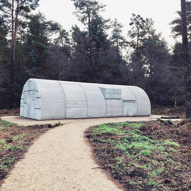 "#GagosianQuarterly: Rachel Whiteread's public sculpture ""Nissen Hut,"" cast from a type of structure invented during World War I, was unveiled in October 2018 in Yorkshire's Dalby Forest.  Tamsin Dillon, curator for 14–18 NOW, the program that co-commissioned the project, explores the dynamic history of these structures and provides a firsthand account of the steps leading up to the work's premiere. Read the essay via the link in our bio! __________ #RachelWhiteread #1418NOW #Gagosian @forestrycommeng  #Repost: @chriskeenan"