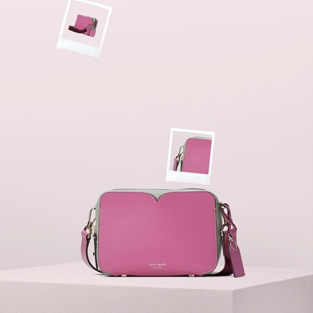 the front pocket of candid holds a lot more than you'd think… #katespade #loveinspades