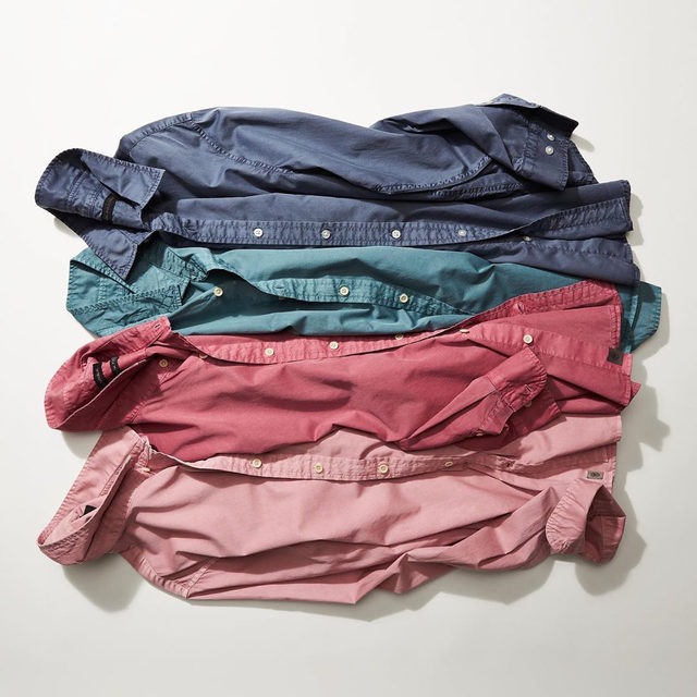 The vibrant colors of these Untucked shirts are due to our garment-dye technique. Head to 🔗 in bio for the story behind these rich hues.
