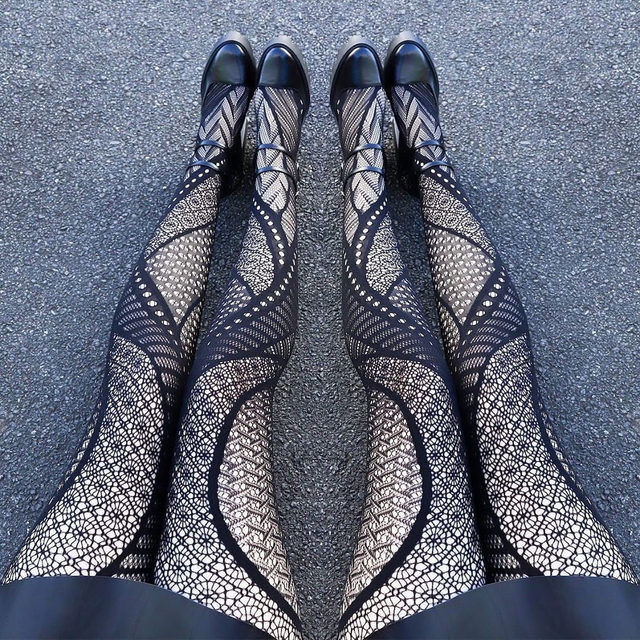 When you want your hosiery to be the centre of attention 🖤 #blackmilk #blackmilkclothing #bmabstractedhosiery