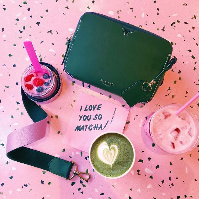 a note to you, to candid, to this v cute latte, to our moms, to almost-friday… #katespade #loveinspades