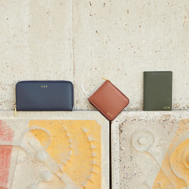 Little luxuries.  Our small leather goods are designed to bring ease and effortlessness into your day, everyday. Make it yours with subtle personalization. Link in bio.