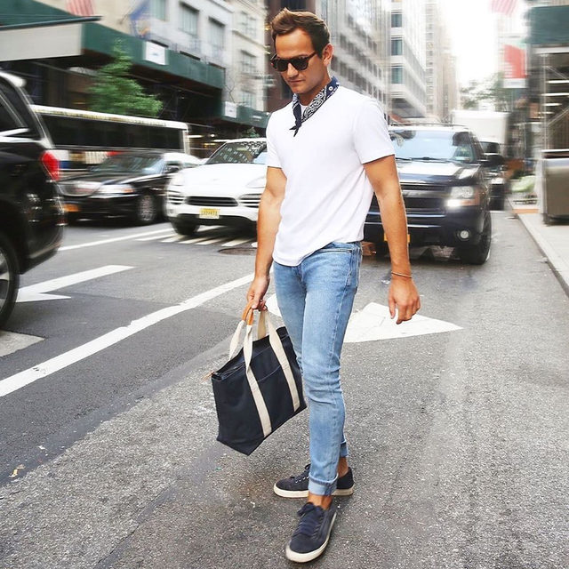@dmanzler taking our Legacy Denim for a spin in NYC. #BRMens  Want to be in our feed? Show us your style—tag #BRMens and @bananarepublicmens in your caption.