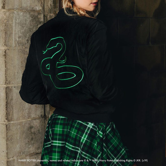 The School's Out! preview is here! Head to our website to check it out! #HarryPotter #blackmilkclothing #blackmilk #bmslytherinlettermanjacket #bmtartanslytherinaprondress