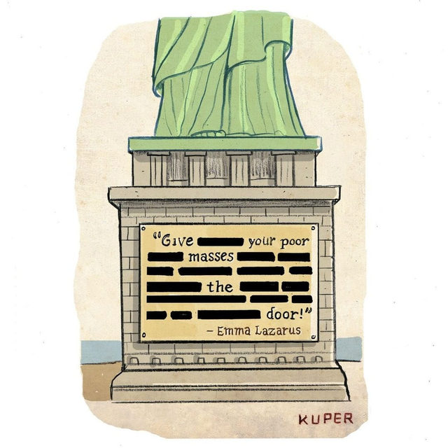 An updated poem for the Statue of Liberty. #TNYcartoons