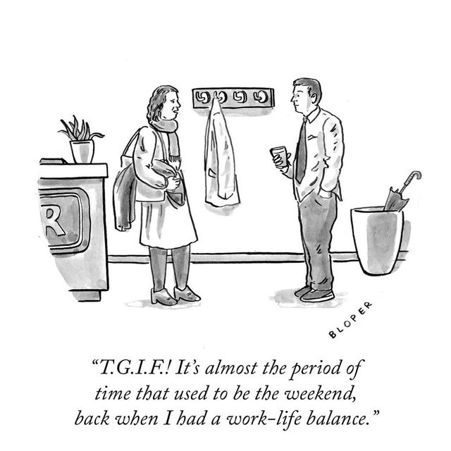 At least it's not Monday. #TNYcartoons