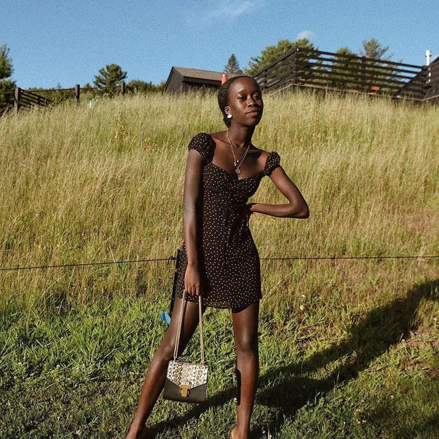 A dress for dinner dates or field frolicking 🌾 @nycxclothes