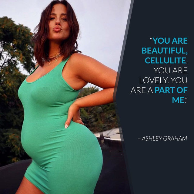 Ashley Graham posted a naked pregnant selfie, stretch marks and all, and it's what we call model behavior. 👏 Link in bio to see. (📷: Instagram)